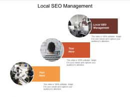 Local SEO Management Ppt Powerpoint Presentation File Structure Cpb