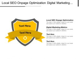 Local Seo Onpage Optimization Digital Marketing Metrics Predictive Marketing Cpb