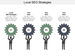 Local SEO Strategies Ppt Powerpoint Presentation Icon Designs Cpb