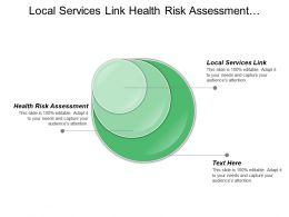 Local Services Link Health Risk Assessment Identification Source