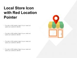 Local Store Icon With Red Location Pointer