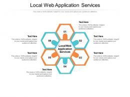 Local Web Application Services Ppt Powerpoint Presentation Outline Design Templates Cpb