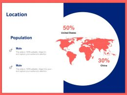 Location 50 Percentages Ppt Powerpoint Presentation Styles Graphics Template