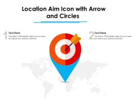 Location Aim Icon With Arrow And Circles