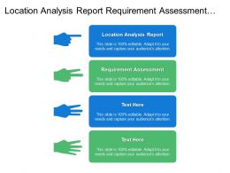 Location Analysis Report Requirement Assessment Implementation Roadmap Plan
