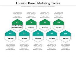 Location Based Marketing Tactics Ppt Powerpoint Presentation Portfolio Infographics Cpb