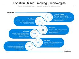 Location Based Tracking Technologies Ppt Powerpoint Presentation Slides Graphics Cpb