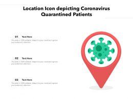 Location Icon Depicting Coronavirus Quarantined Patients