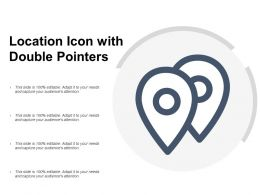 Location Icon With Double Pointers