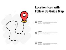 Location Icon With Follow Up Guide Map