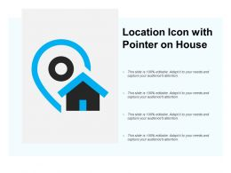 Location Icon With Pointer On House