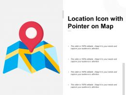 Location Icon With Pointer On Map