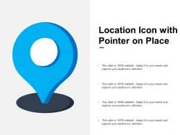 Location Icon With Pointer On Place