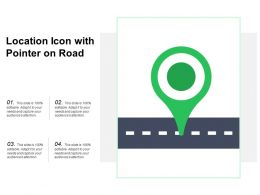 Location Icon With Pointer On Road