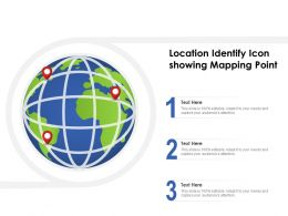 Location Identify Icon Showing Mapping Point