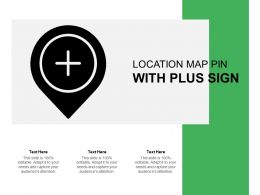 Location Map Pin With Plus Sign