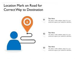 Location Mark On Road For Correct Way To Destination