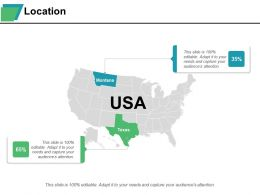 Location Montana Texas Usa Ppt Styles Graphics Template