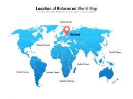 Location Of Belarus On World Map