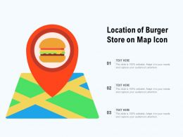 Location Of Burger Store On Map Icon