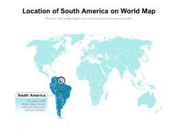 Location Of South America On World Map