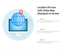 Location Pin Icon With Globe Map Displayed On Screen