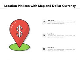 Location Pin Icon With Map And Dollar Currency