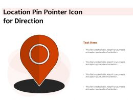 Location Pin Pointer Icon For Direction