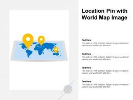 Location Pin With World Map Image