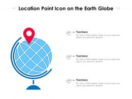 Location Point Icon On The Earth Globe