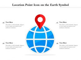 Location Point Icon On The Earth Symbol
