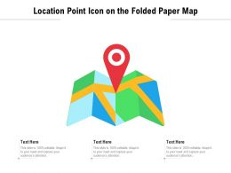 Location Point Icon On The Folded Paper Map