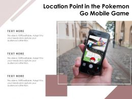 Location Point In The Pokemon Go Mobile Game