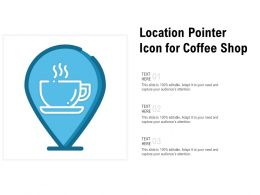 Location Pointer Icon For Coffee Shop