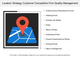 Location Strategy Customer Competition Firm Quality Management