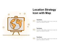 Location Strategy Icon With Map