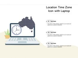 Location Time Zone Icon With Laptop