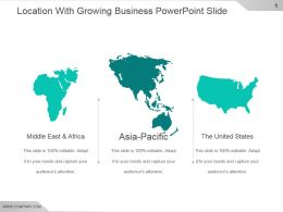 Location With Growing Business Powerpoint Slide