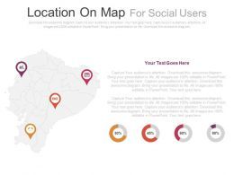Locations On Map For Social Users Powerpoint Slides