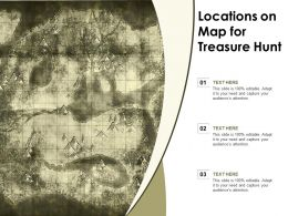 Locations On Map For Treasure Hunt