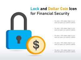 Lock And Dollar Coin Icon For Financial Security