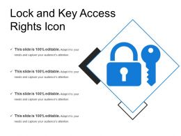 Lock And Key Access Rights Icon