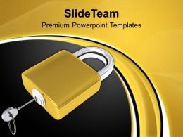 Lock And Key Security Powerpoint Templates PPT Themes And Graphics 0113