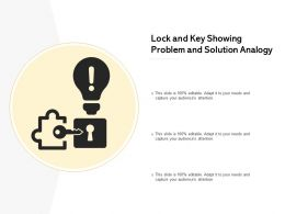 Lock And Key Showing Problem And Solution Analogy