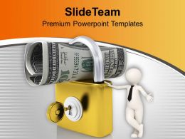 Lock And Us Dollar And Key Security PowerPoint Templates PPT Themes And Graphics 0213