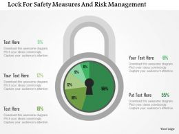 Lock For Safety Measures And Risk Management Flat Powerpoint Design