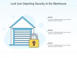 Lock Icon Depicting Security At The Warehouse