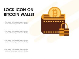 Lock Icon On Bitcoin Wallet
