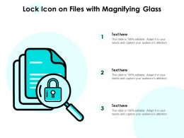 Lock Icon On Files With Magnifying Glass
