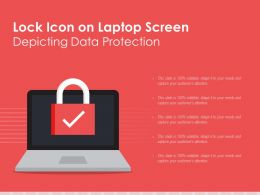 Lock Icon On Laptop Screen Depicting Data Protection